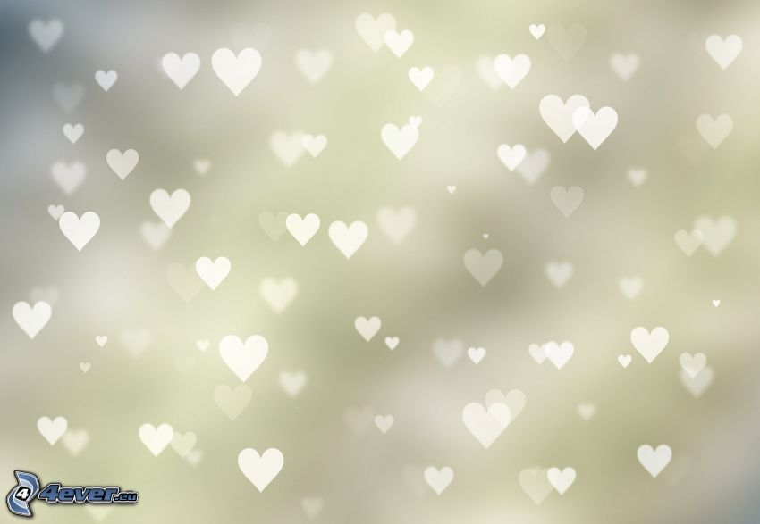 Herzen, weißer Hintergrund