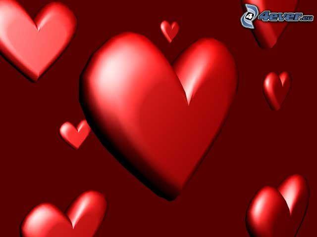 valentine roten Herzen