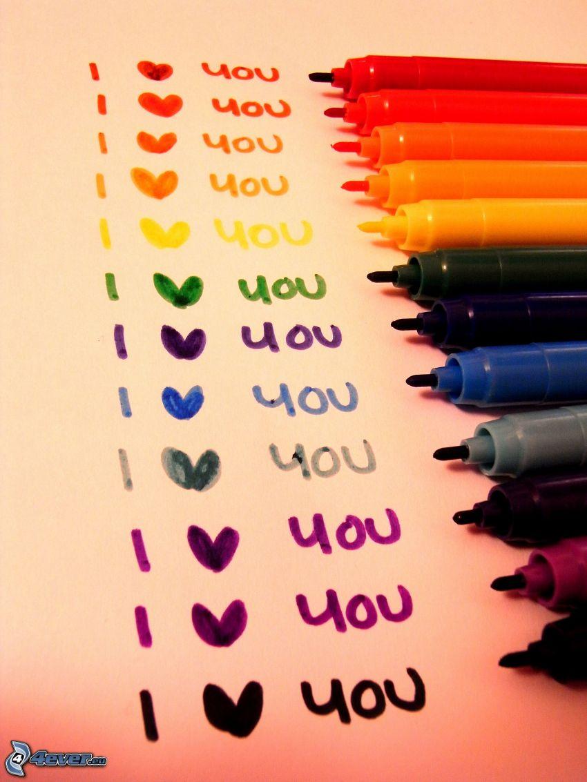 I love you, Filzstifte