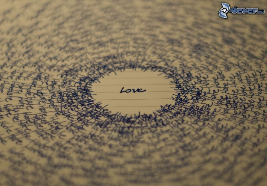 love, Buchstaben