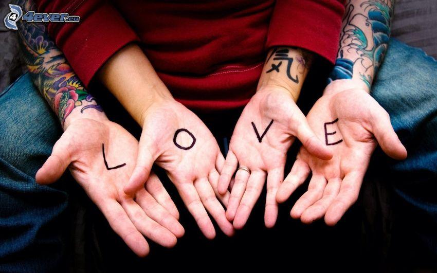love, Hände