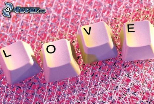 love, Tasten