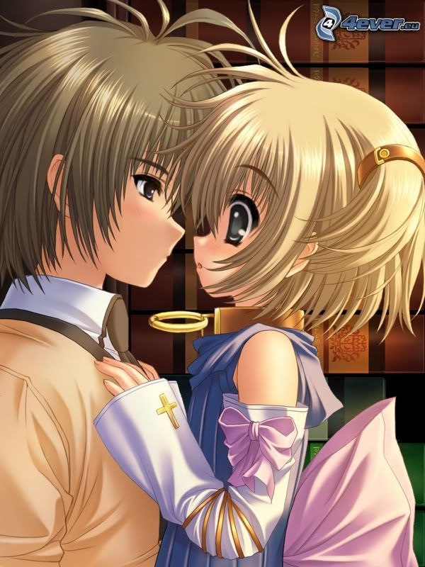 anime Paar, Liebe