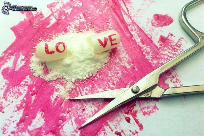 Pille, love, Schere
