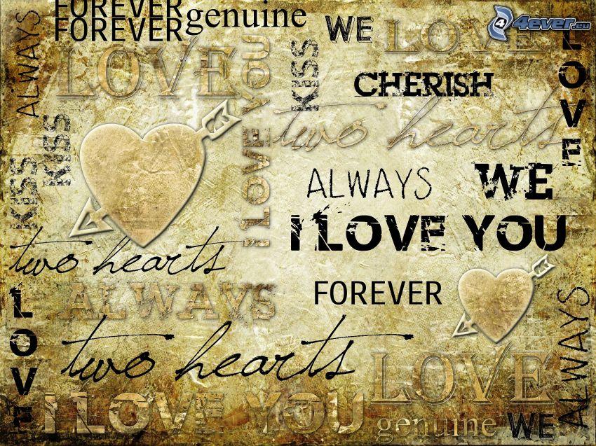 Text über die Liebe, I love you