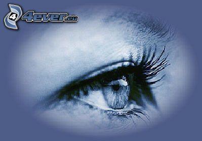 Auge, Blick, blau, Kunst