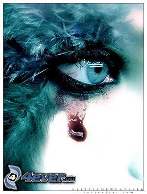 blutige Tränen, Auge, Trauer, Schmerz