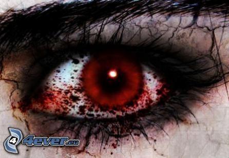 blutigen Augen, Schmerz