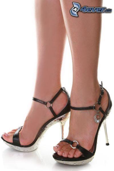 Damenschuhe, Gesellschaftsschuhe, Schuhe, Ferse