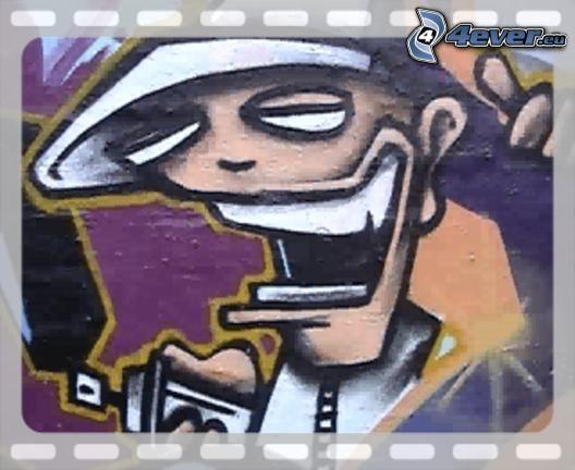 Graffiti, Zeichnung, Spray, Straße