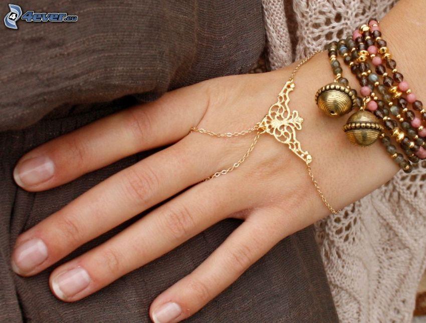 Armbänder, Hand