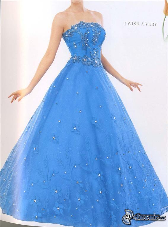 blaues Kleid, Ball