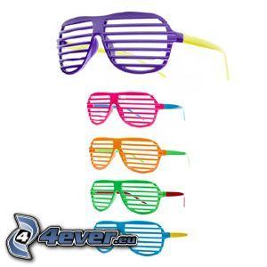 Brille, farbige