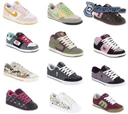 bunte Turnschuhe, Nike, DC Shoes