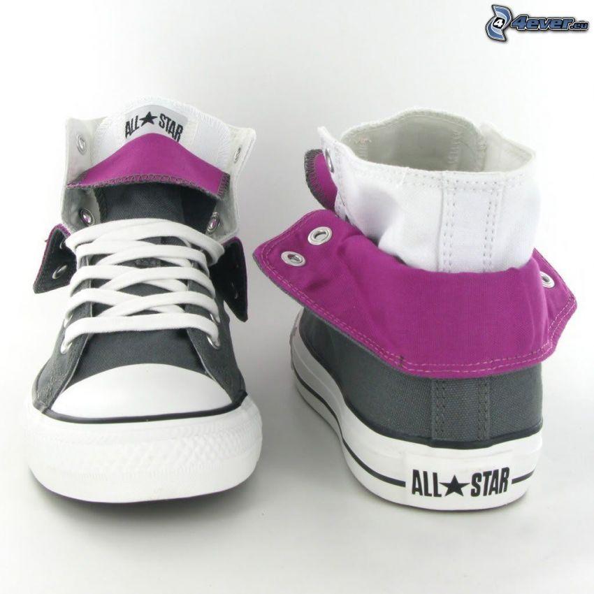 Converse, lila Turnschuhe