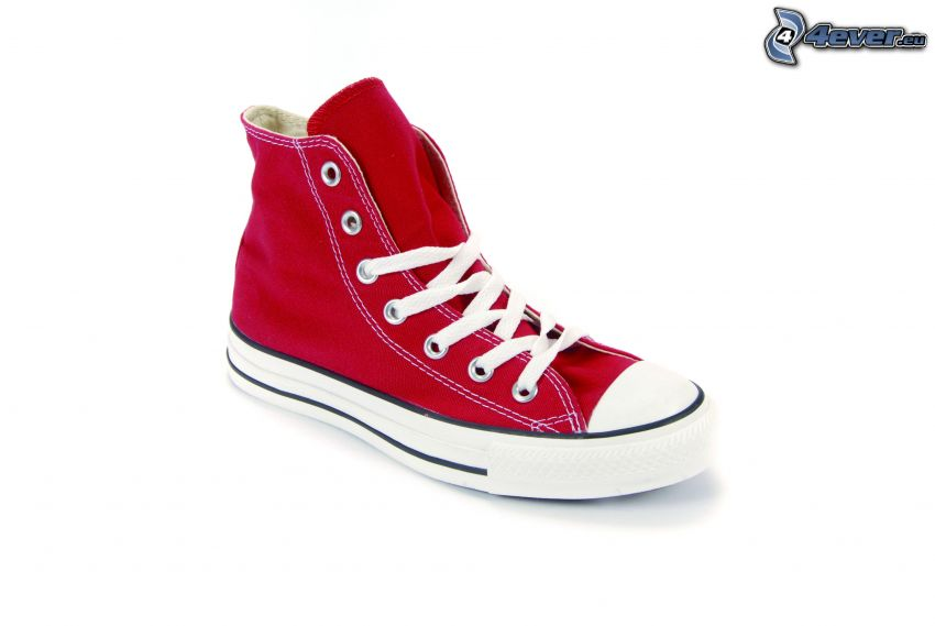 Converse, rote Turnschuh
