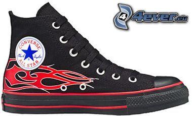 Converse, schwarze Turnschuhe