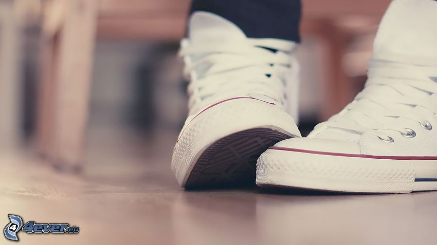 Converse, weiße Turnschuhe