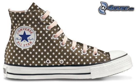 Converse All Star, braune Turnschuhe
