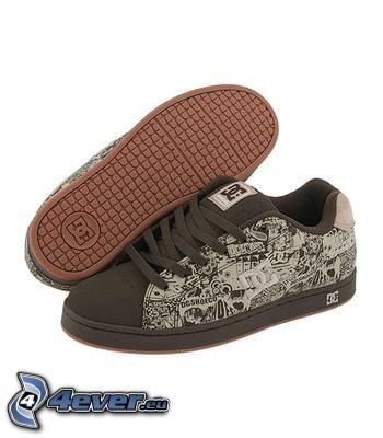 DC Shoes, braune Turnschuhe