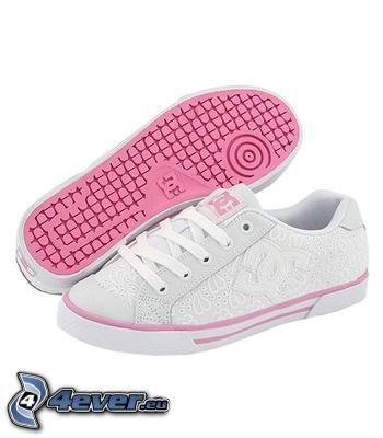 DC Shoes, weiße Turnschuhe