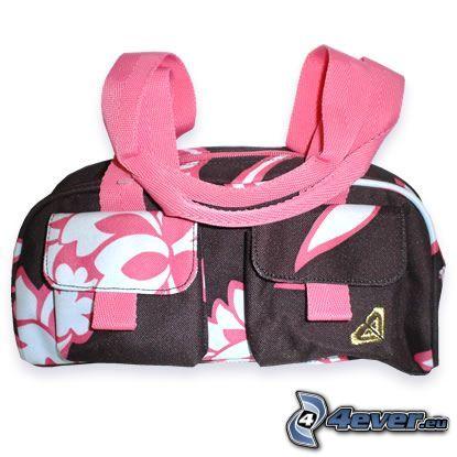 rosa Handtasche, Tasche
