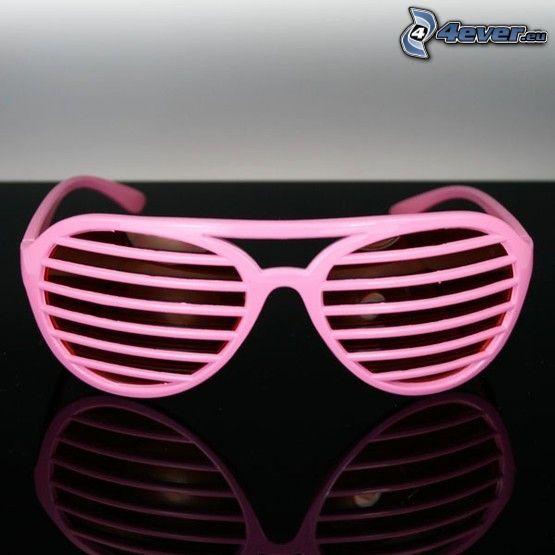 rosige Sonnenbrille