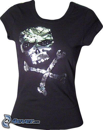 T-shirt, Schädel, Knochen, Sensenmann