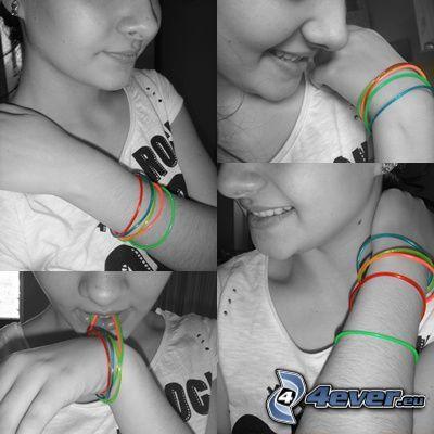 Lächeln, Armbänder