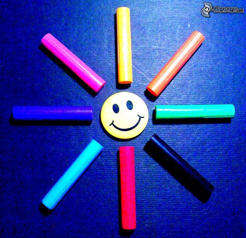 Smiley, Deckel, Sonne