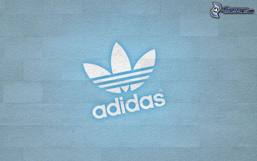 Adidas, blauer Hintergrund