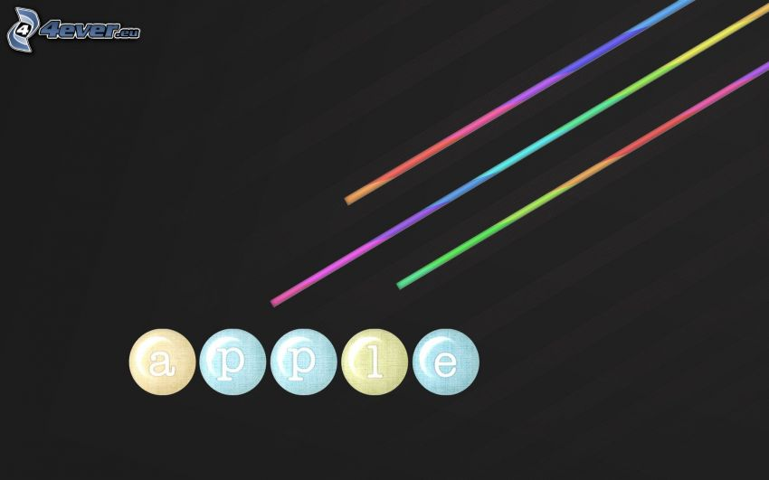 Apple, farbige Linien