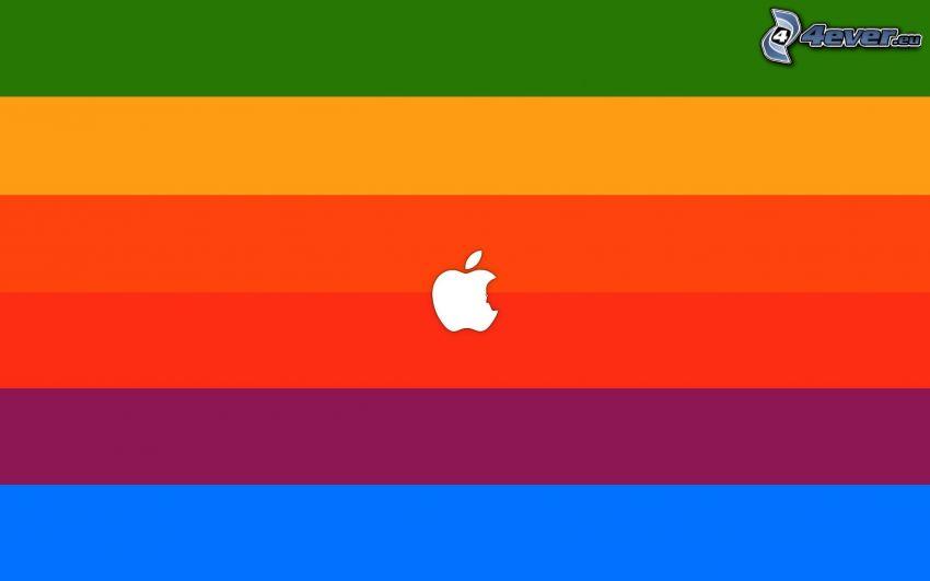Apple, Regenbogen Streifen