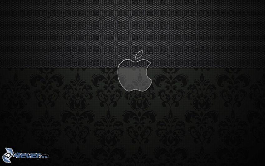 Apple, schwarzem Hintergrund