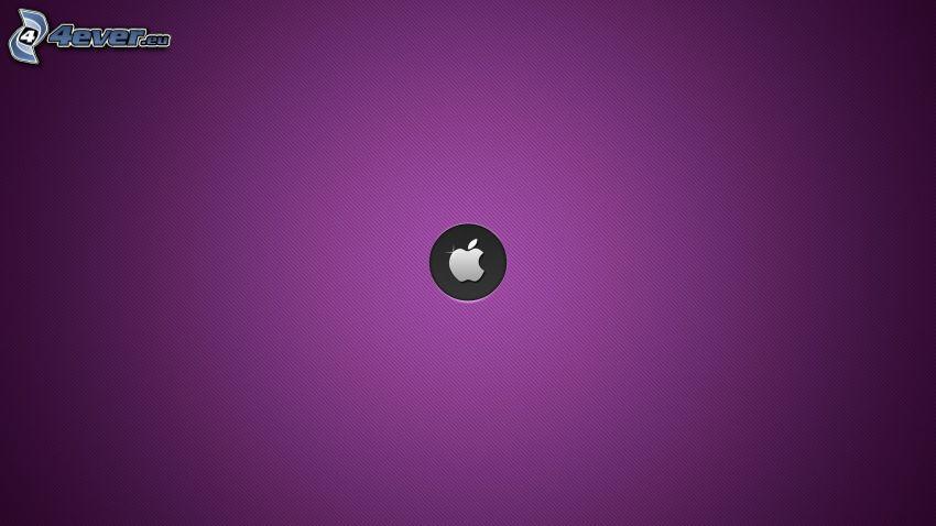 Apple, violett Hintergrund