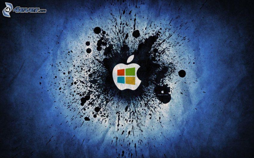 Apple, Windows, Tintenfleck