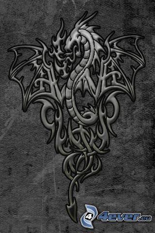 Drache, logo