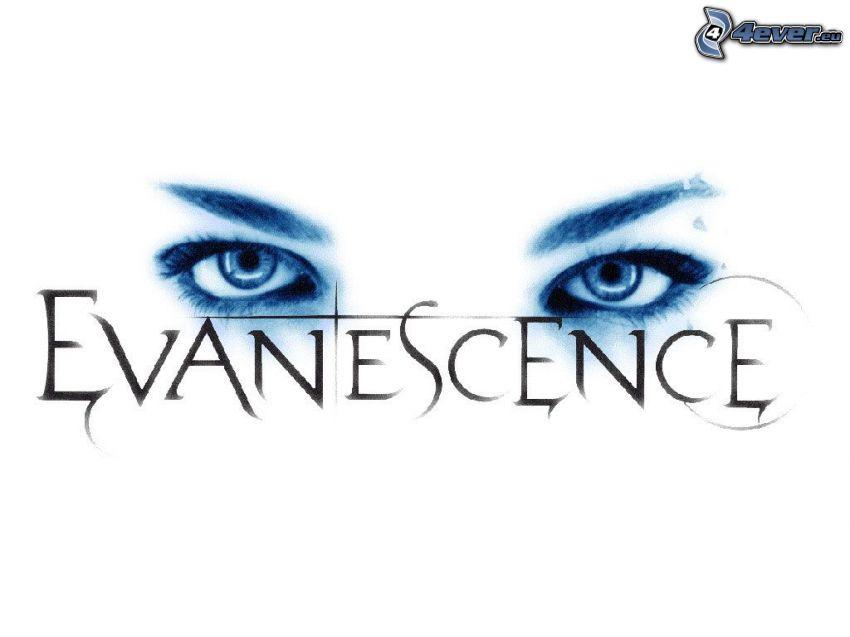 Evanescence, logo, Augen