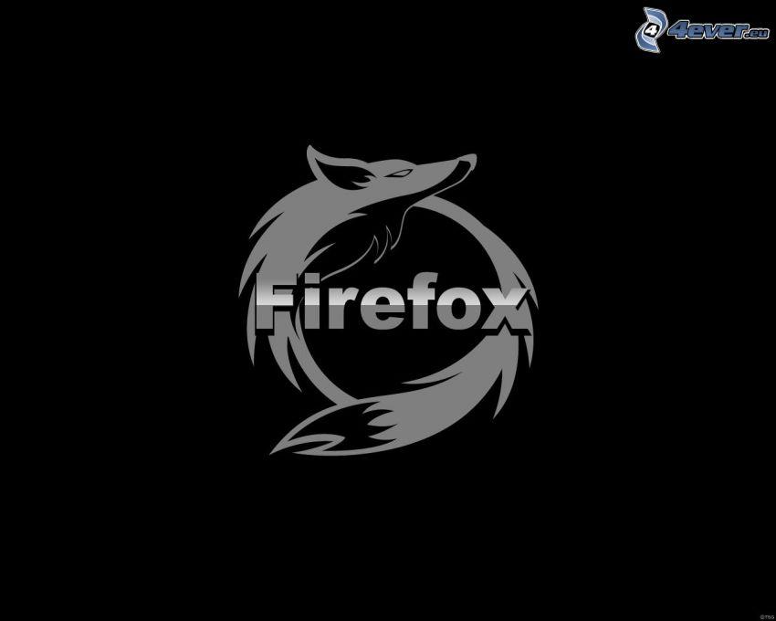 Firefox, schwarzem Hintergrund