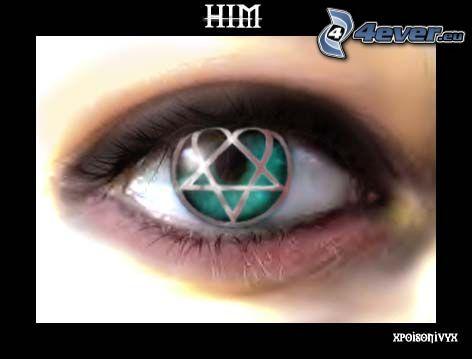 HIM, Auge, Pentagramm