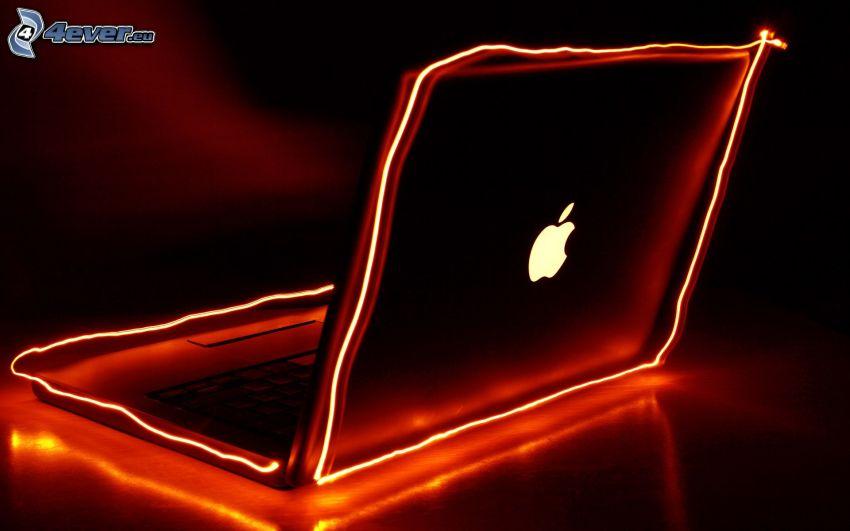 MacBook, Apple, lightpainting
