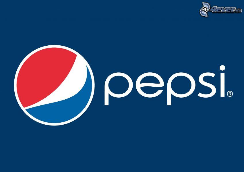 Pepsi, blauer Hintergrund
