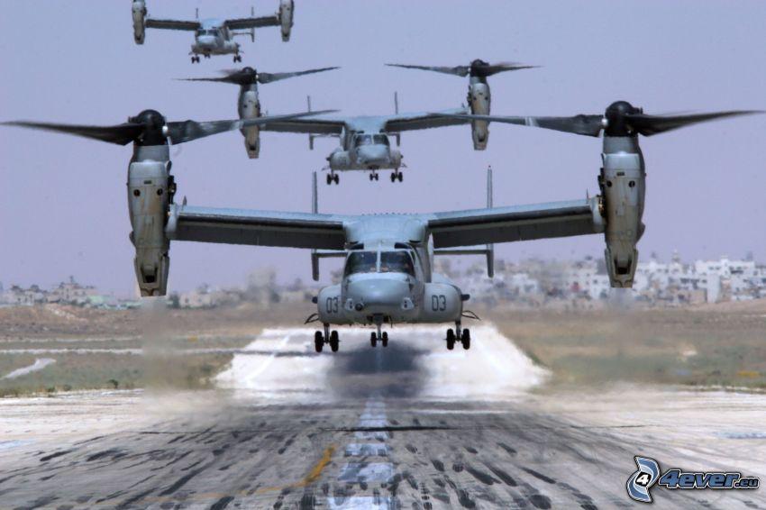 Bell Boeing V-22 Osprey, Flughafen
