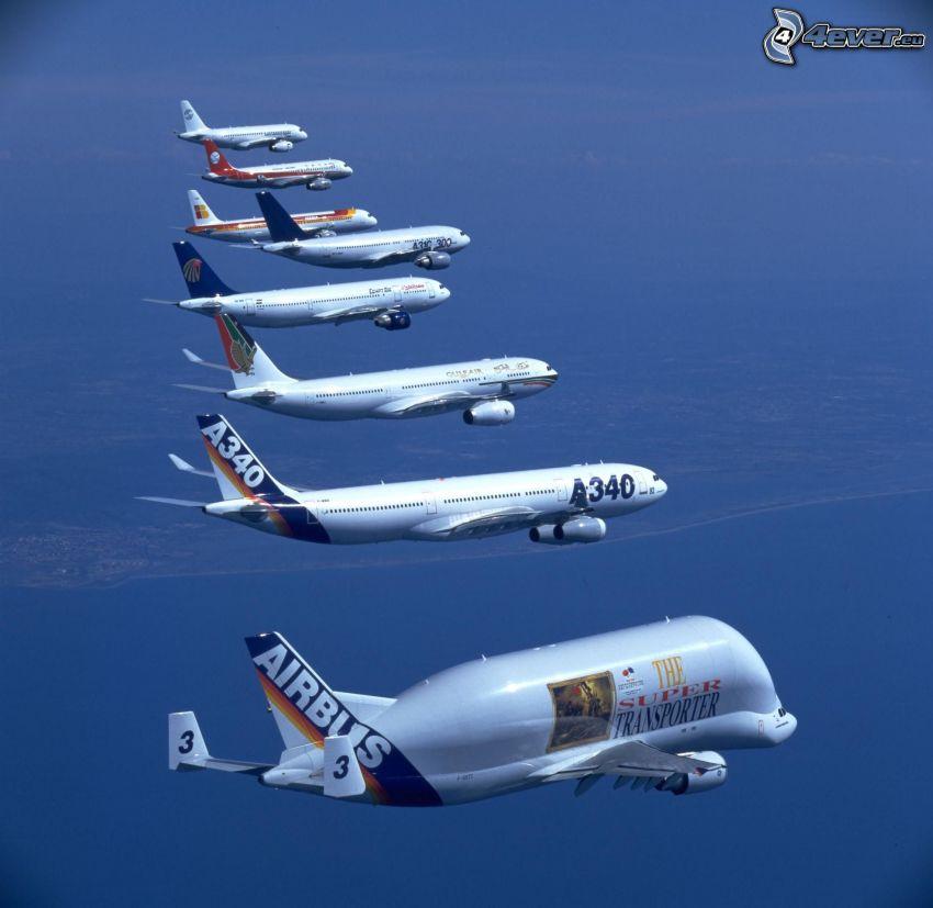 Airbus, Flugzeuge