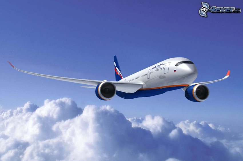 Boeing 787 Dreamliner, über den Wolken, Himmel