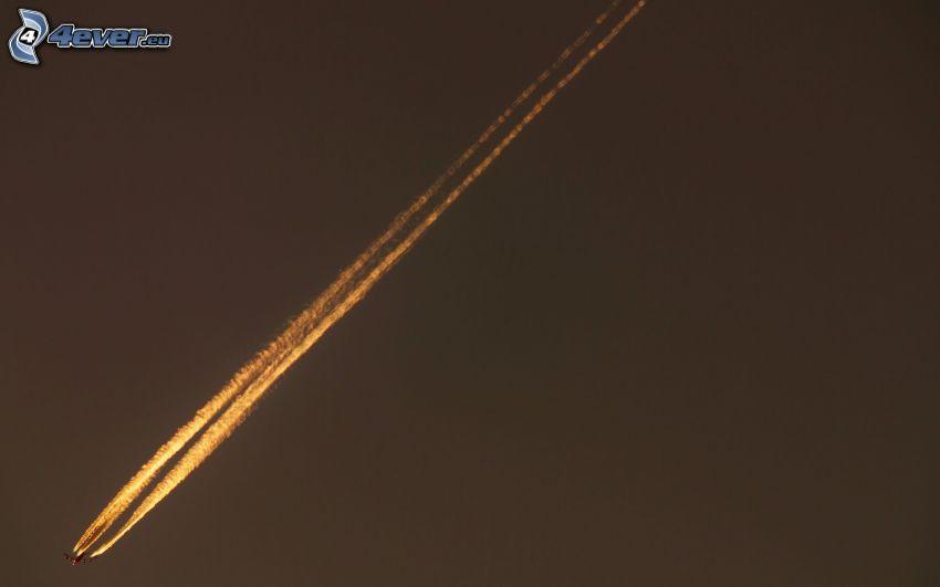 Flugzeug, kondensstreifen