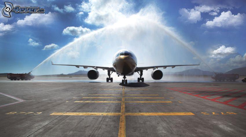 Flugzeug, Landebahn