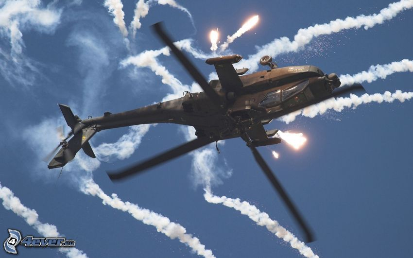 AH-64 Apache, Schießen