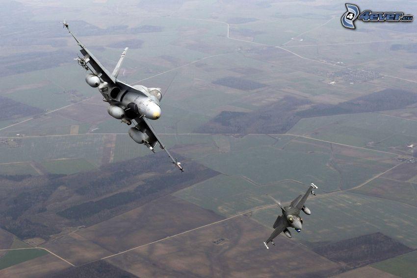 CF-188 Hornet, Felder