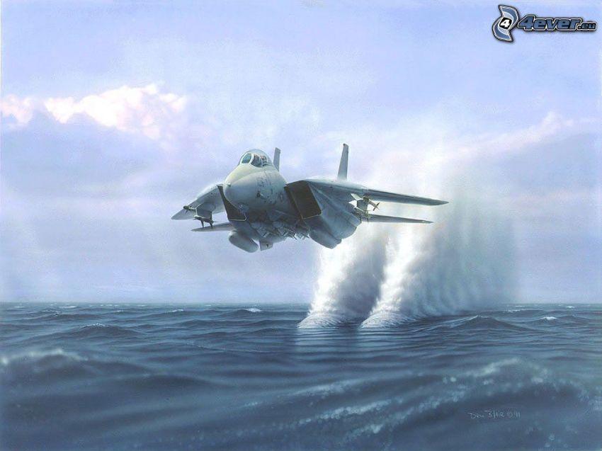 F-14 Tomcat, Meer, Wellen